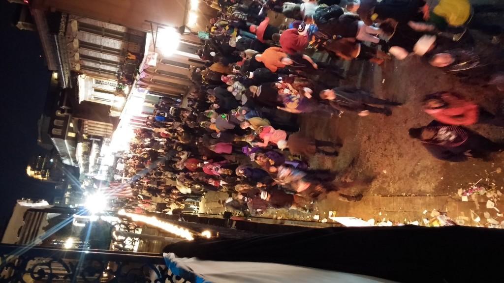 Bourbon Street från en balkong